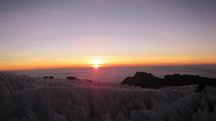 Sunrise over Mawenzi peak