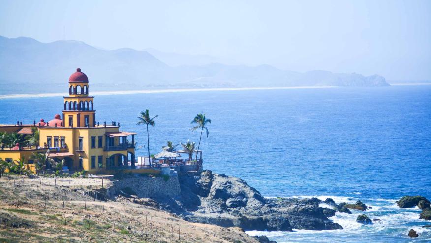 The gorgeous ocean overlooking Todos Santos