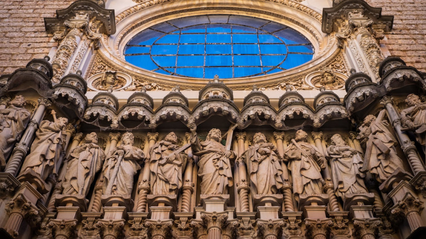 Cathedral in Montserrat