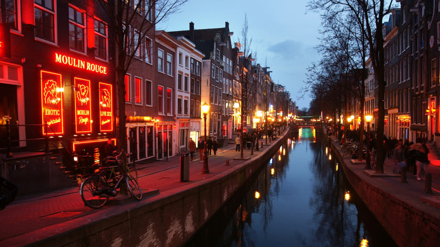 Red Light District of Amsterdam