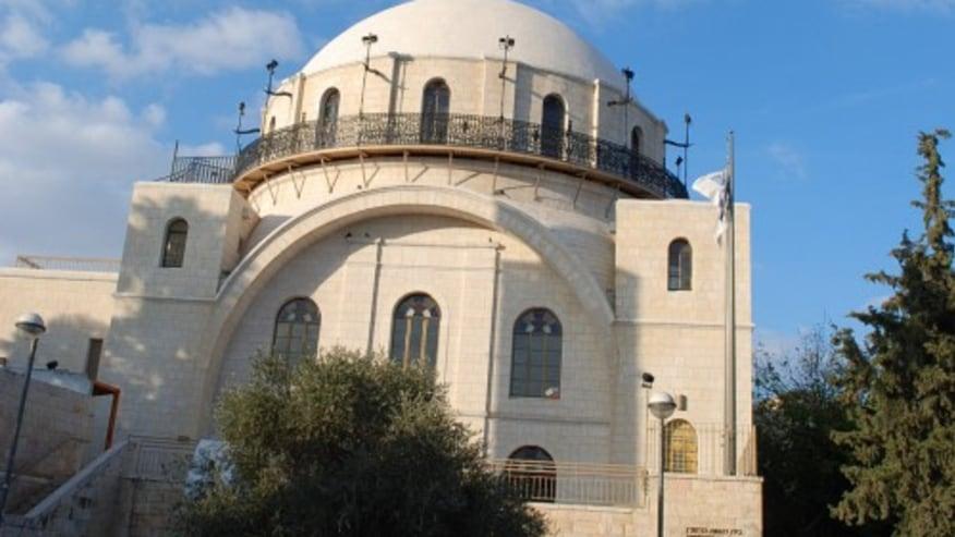 The Churva synagogue in the Jewish Quarter