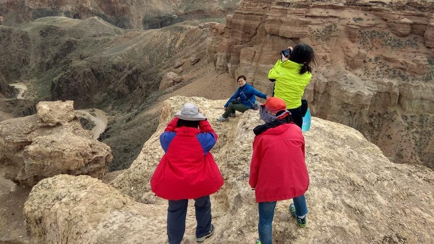Hiking on a rocky terrain