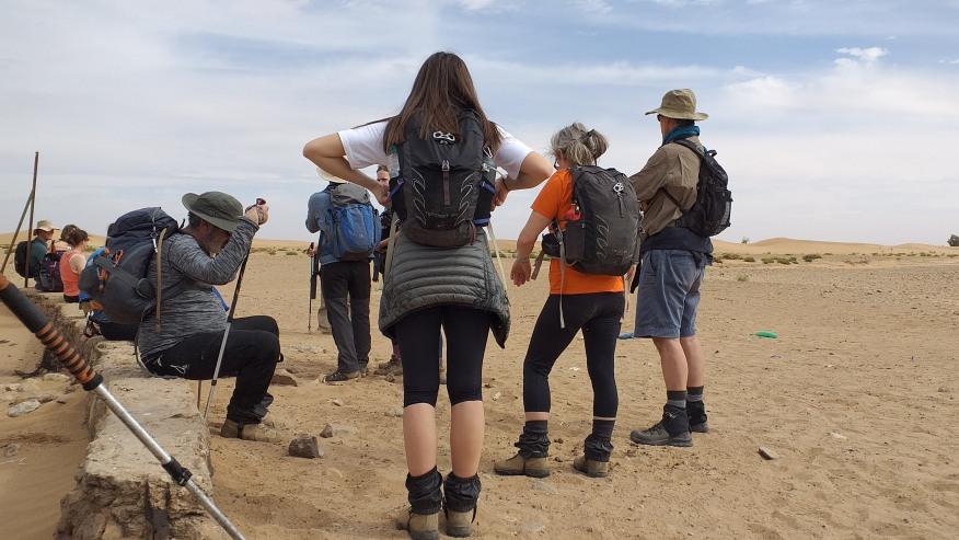 Trek in the Sahara Desert