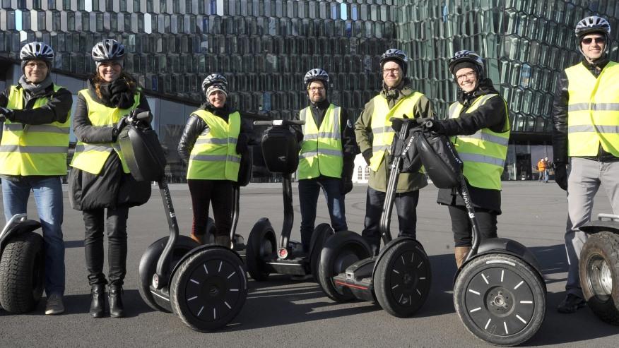Explore the Icelandic Capital riding Segways
