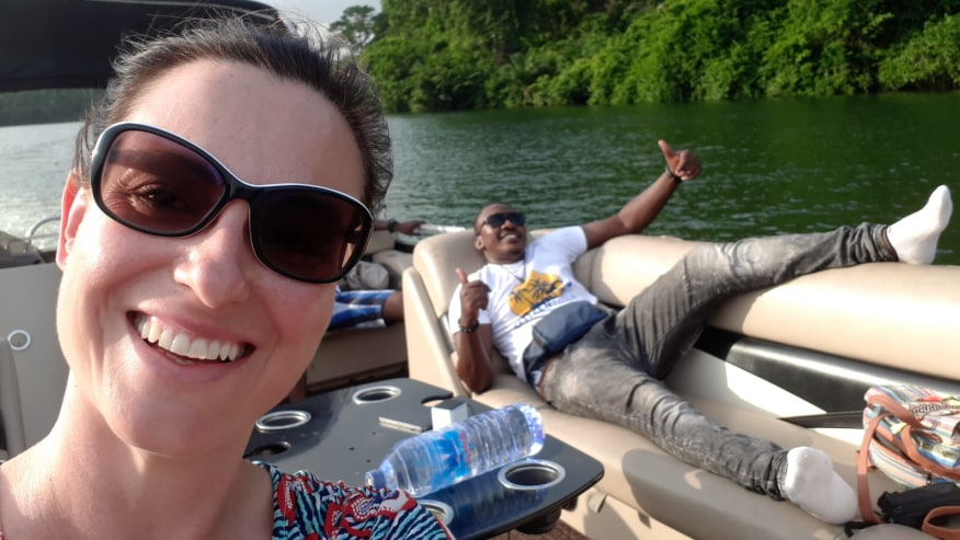 Chilling on the boat