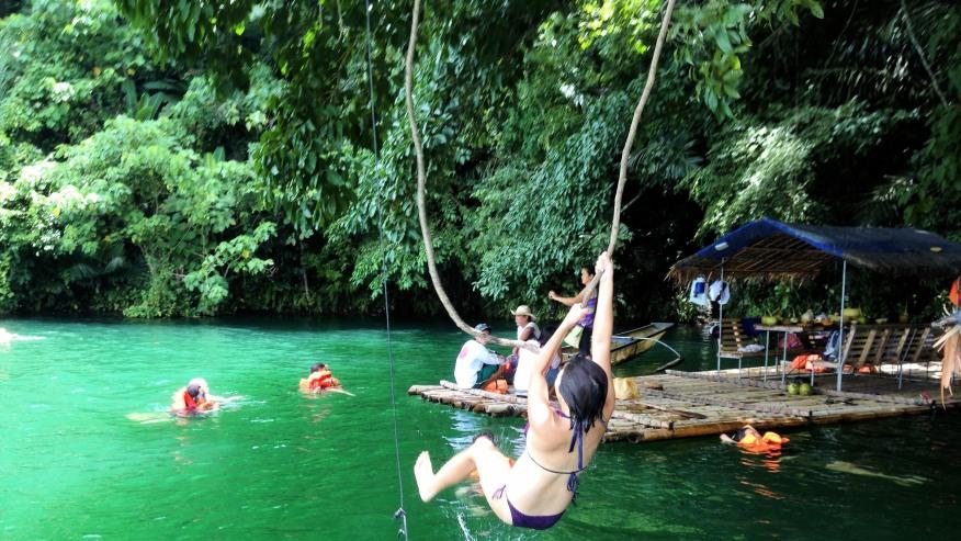 Lake Pandin Swing