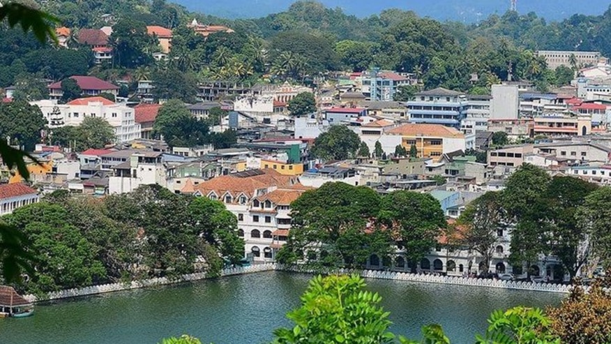 Kandy city and lake