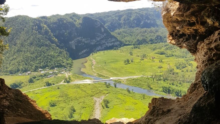 Visit the Cueva Ventana atop a limestone cliff