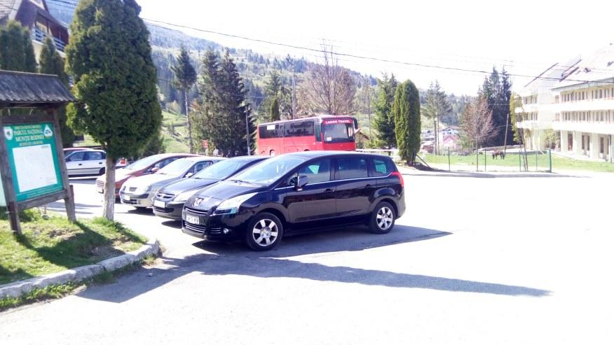 Arriving in Borsa at Rodnei Mountain Base