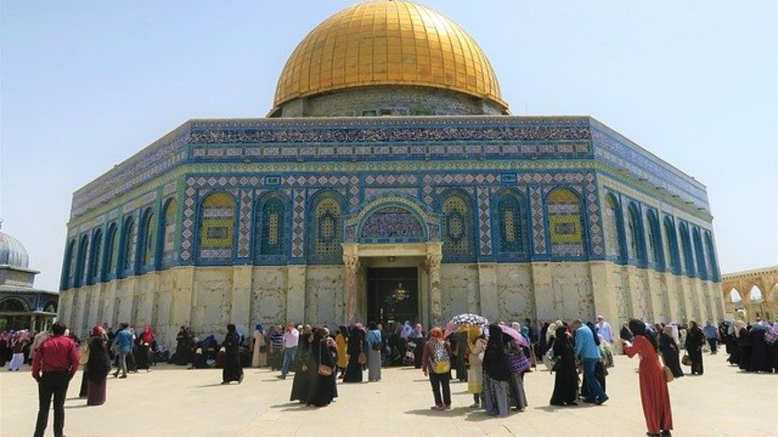 People offering prayers at Al Aqsa Mosque