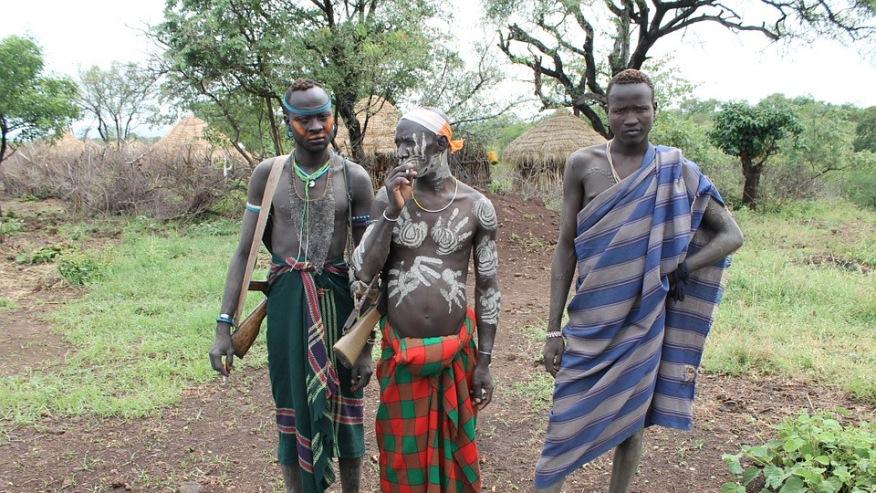 Mursi Tribe Warriors