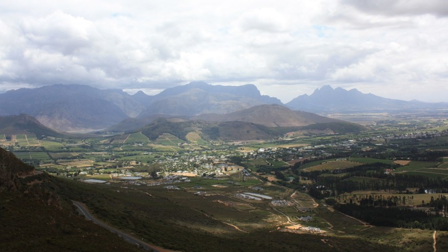 Mountain view of Franschhoek