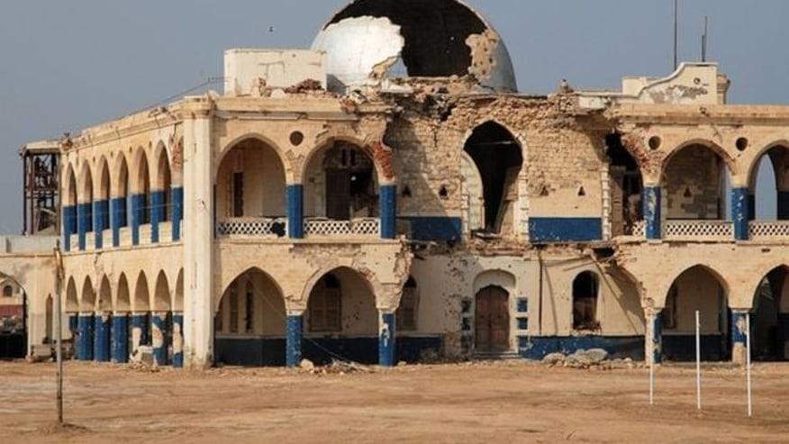 war damaged building