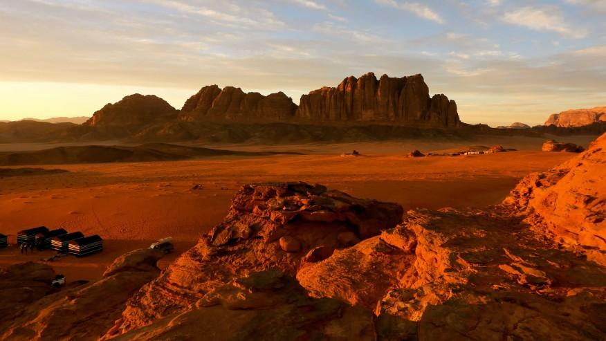 Desert during the sunset