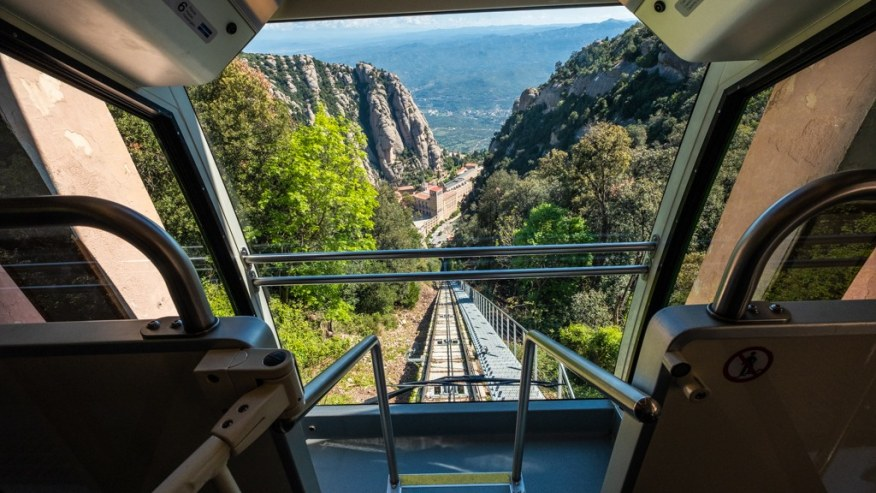 Cable Car to the top of Montserrat