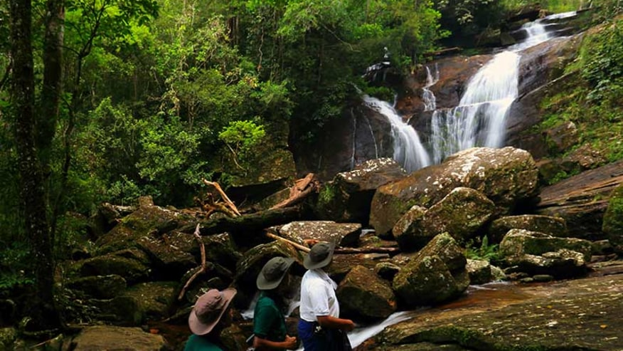 spot the amazing waterfall