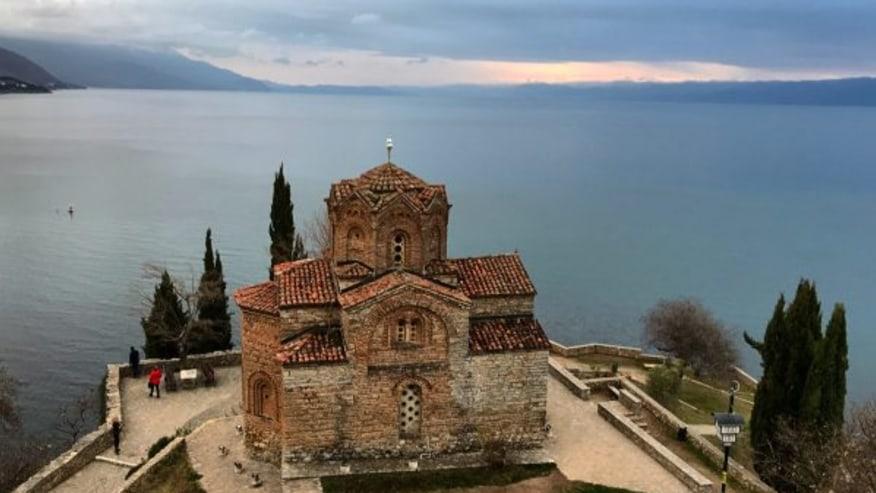 ST Jovan Kaneo overlooking Lake Ohrid