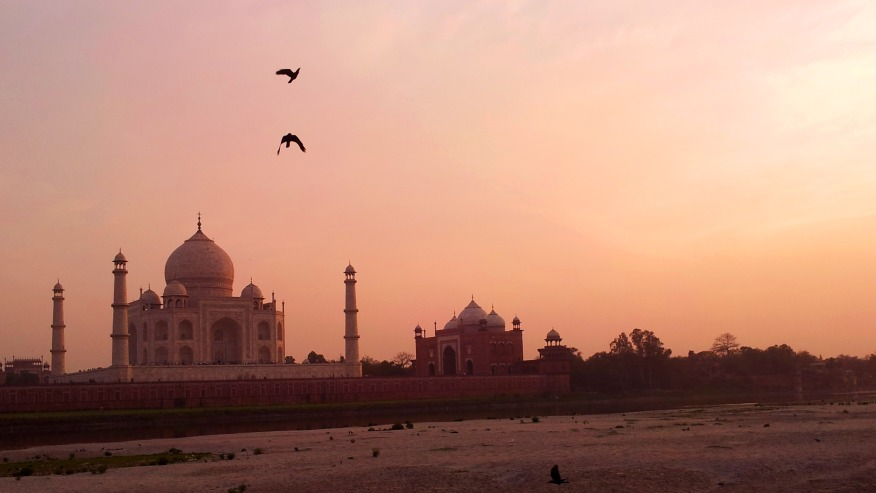Taj Mahal sunset view