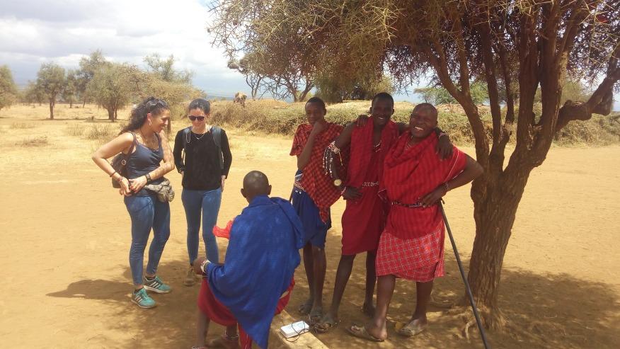 Interact with local Maasai community