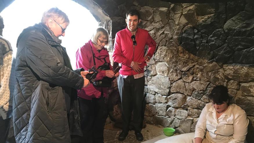 Garni village and take part in lavash (flatbread made in a tandoor) baking ceremony