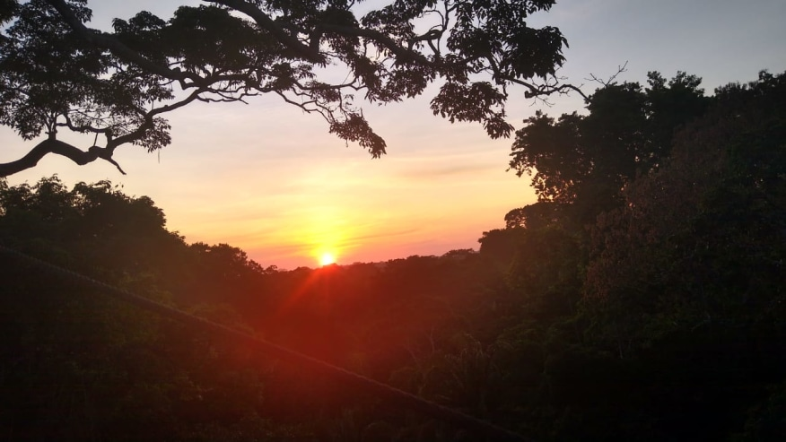 Sunset on the Canopy 30 meters above the ground - Canopy tour