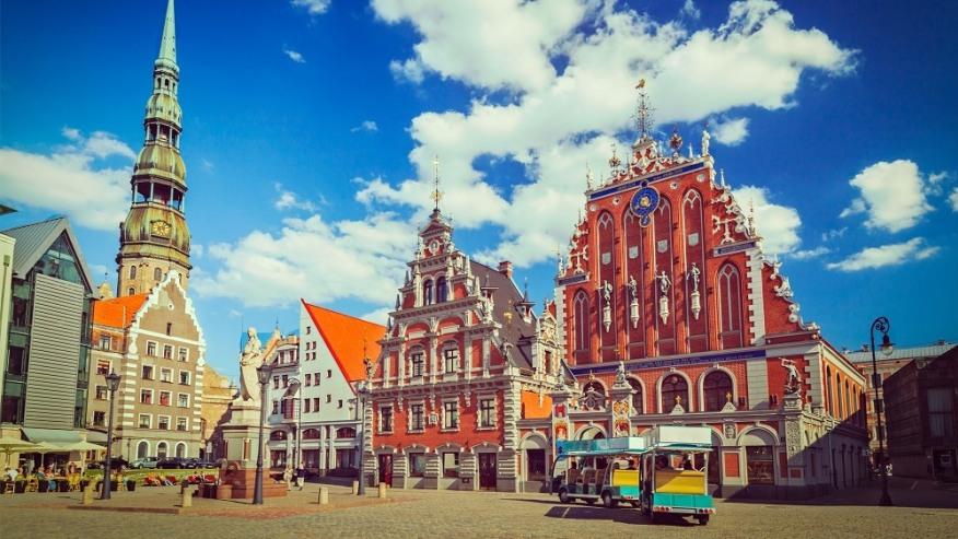 The wonderfully quaint city centre of Tallinn