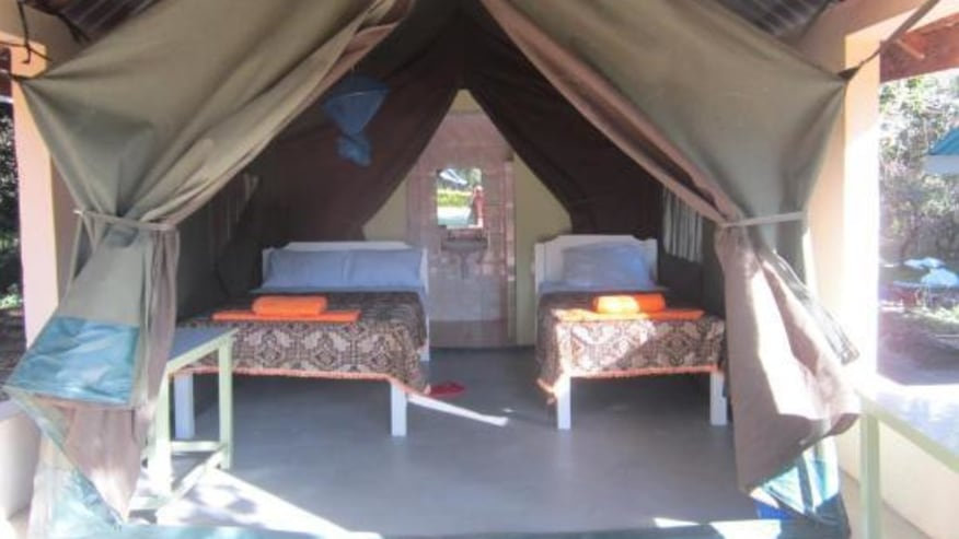 Semi-permanent tented camp, Masai Mara