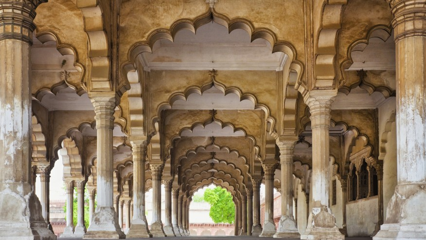 Arches of the Agra Fort