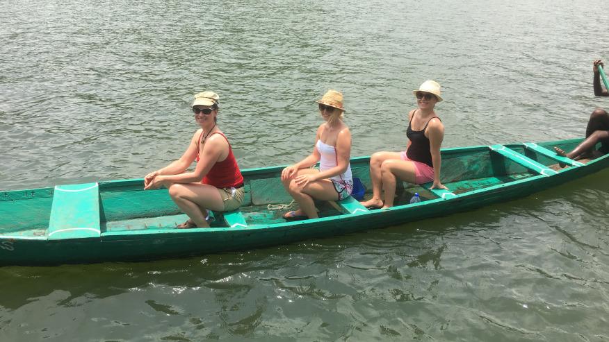 Wooden longboat