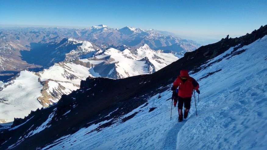Trekking to Aconcagua summit