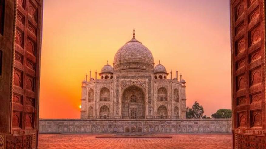 Sunrise View of Taj Mahal