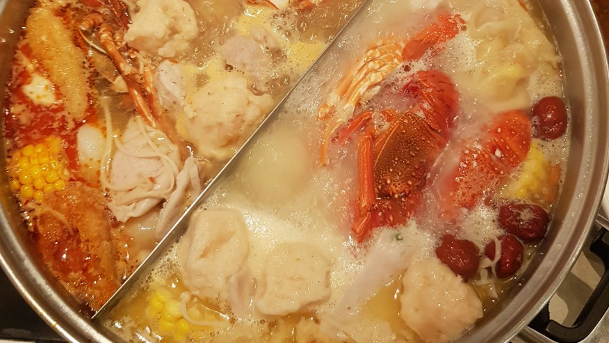 Yummy free fresh lobster seafood soup