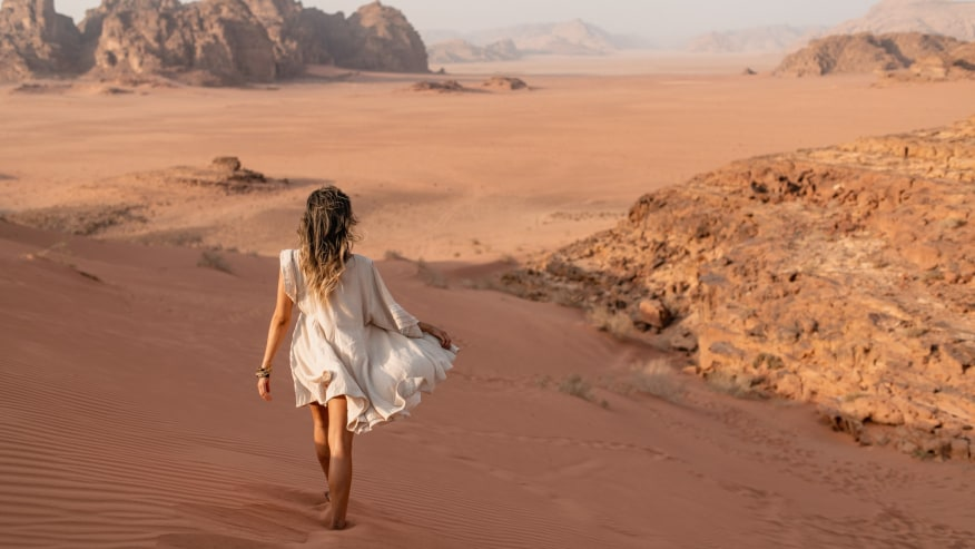Wadi Rum of the Sahara Desert