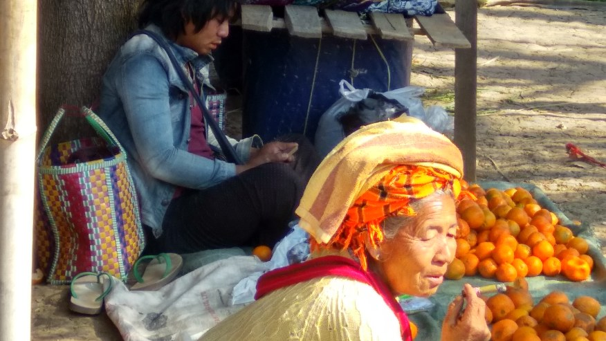 Old Lady in the five day market.