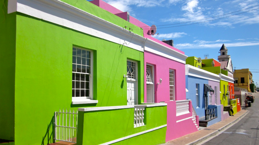 Brightly painted houses of Bo Kaap