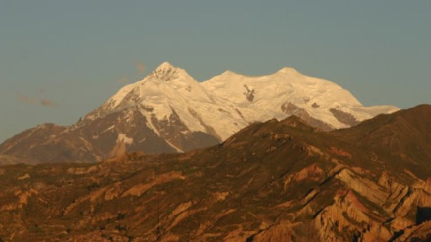 Step up to Summit the Illimani Peak