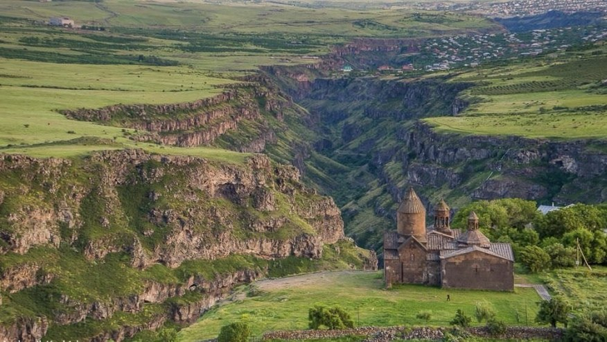 Saghmosavank monastery and Qasakh canyon