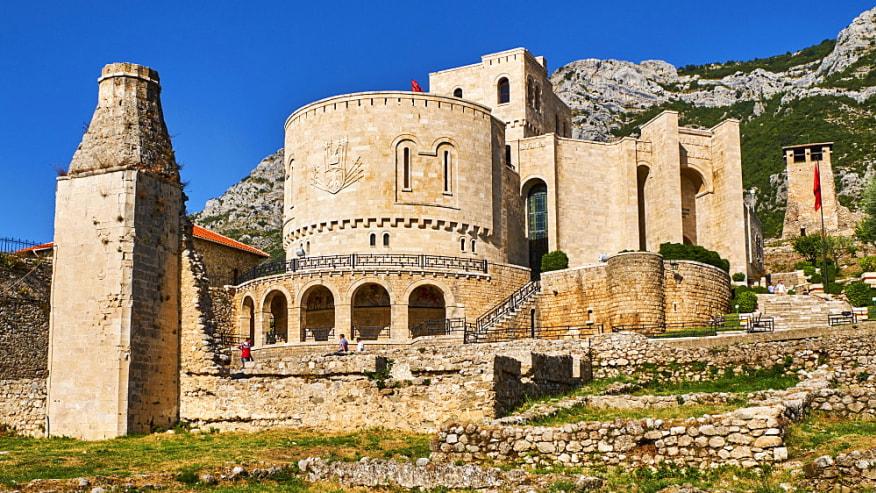 Kruja Castle It was the center of Skanderbeg