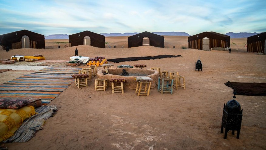 one of the desert camps
