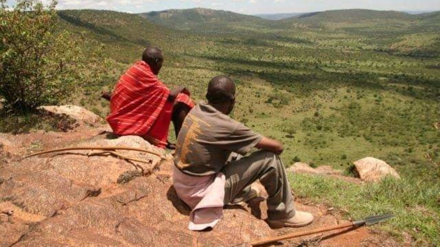 Guide with the Masai moran