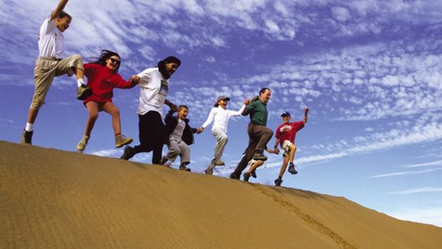 Jump over the dune