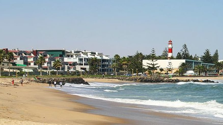 A view of the beach town