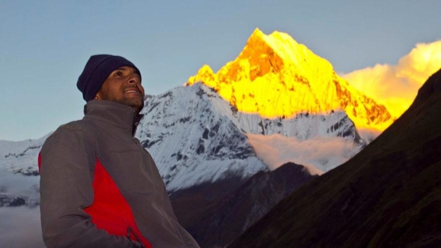 Trek to ABC for Serene Mountain Views