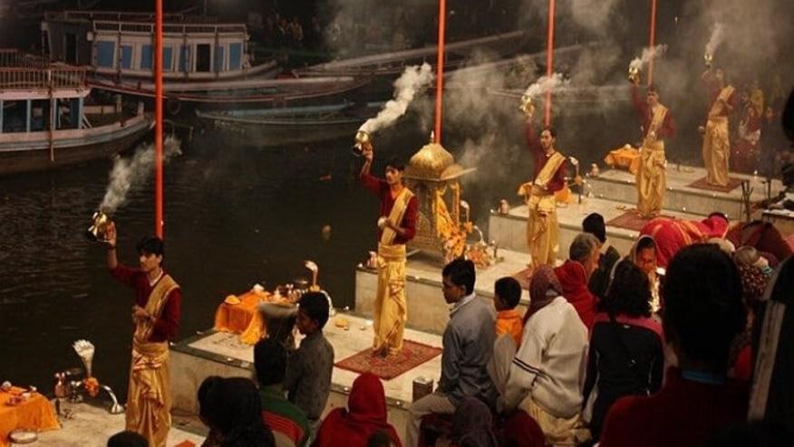 Everning arti on the Ganga Ghat