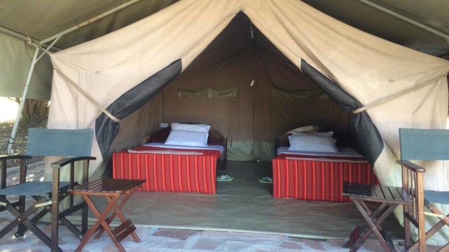 Tented Camp Accommodation interior view