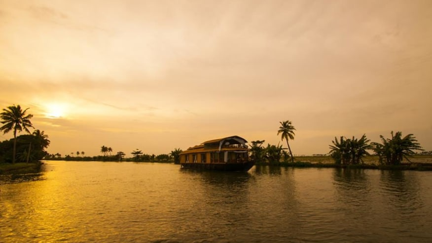 Cruise down the backwaters of Kerala