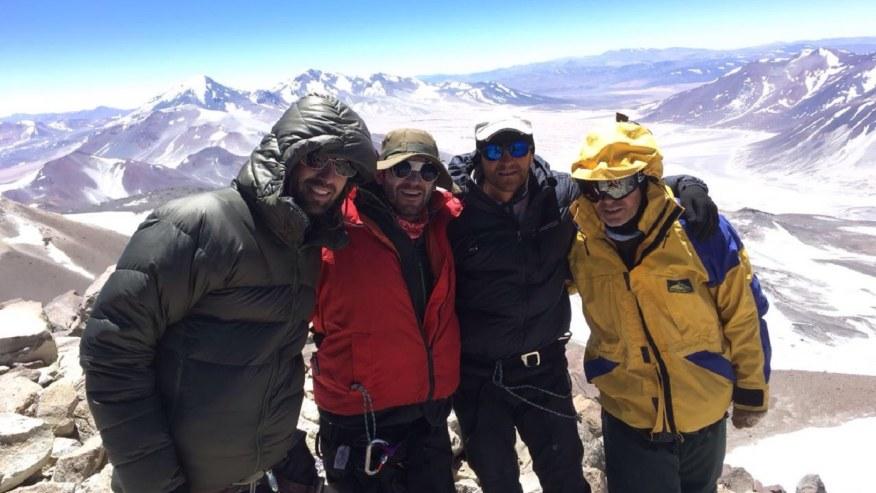 The Licancabur team on the top of Ojos del Salado