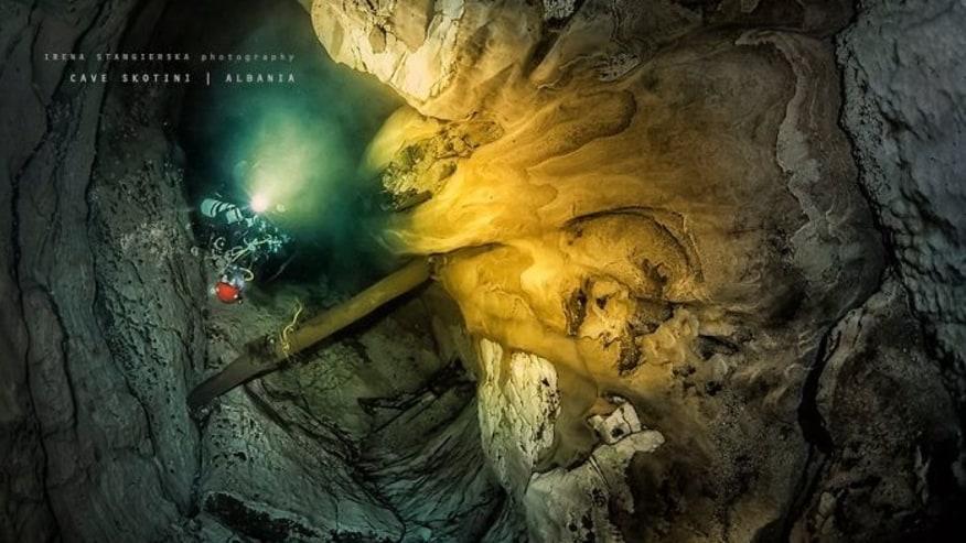 The wonderful underwater caves of Viroi lake (Gjirokastra, Albania)