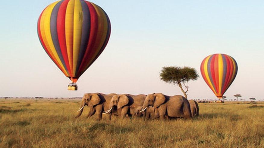 A hot air balloon trip