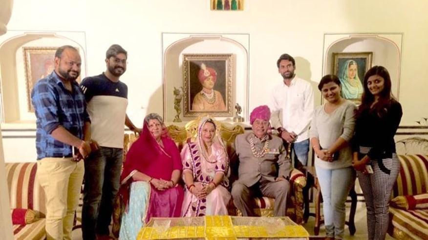 Meeting a royal family